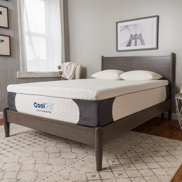 PostureLoft Milan 14-inch Full-size Cool Gel Memory Foam Mattress with Pillow