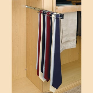 Rev-A-Shelf Chrome 14-inch Pull-out Tie Rack