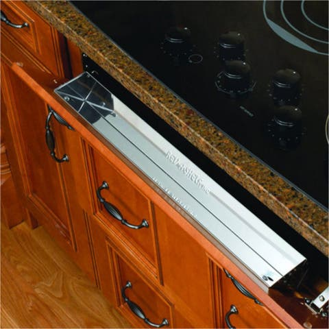 Rev-A-Shelf 6581 Series 28-inch Stainless Steel Tip-out Tray