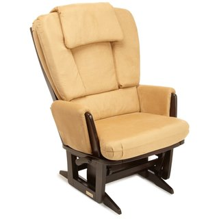 Dutailier Ultramotion Camel Microfiber Grand Modern Nursing Glider With Built-in Feeding Pillows