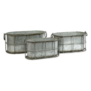 Chandler Metal Tubs - Set of 3