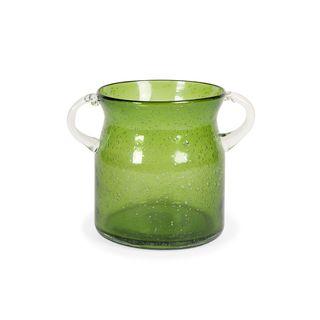 Stevenson Handblown Small Green Glass Jar