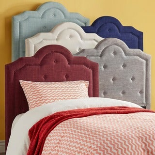 IQ KIDS Harper Tufted High-arching Linen Upholstered TWIN-size Headboard