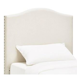Blanchard Nailheads Camelback Upholstered Twin-size Headboard