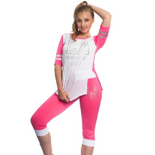 Special One Women's Pink Cotton/Polyester Matching Set