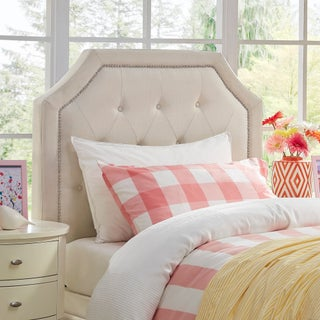 Grace Button Tufted Arched Bridge Twin-sized Headboard (Option: White)