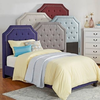 IQ KIDS Grace Button Tufted Arched Bridge TWIN-sized Headboard