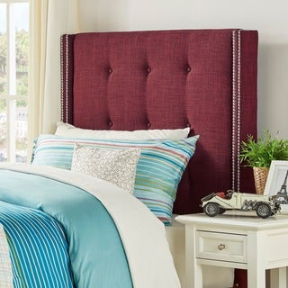 Marion Nailhead Wingback Tufted Twin-sized Headboard