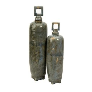 Laertes Ceramic Vases with Stoppers - Set of 2
