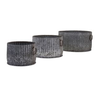Maurer Galvanized Planters - Set of 3