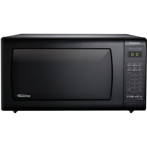 1.6 Cu. Ft. 1250W Genius Sensor Countertop Microwave Oven with Inverter Technology, Black