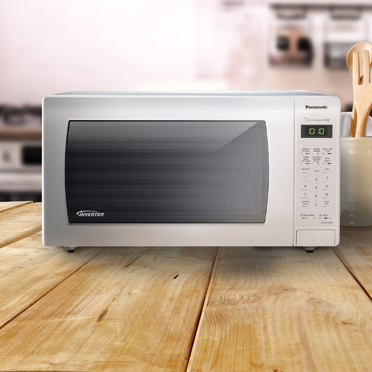 Ft Countertop Microwave Oven with Inverter Panasonic NN-SN736W White 1.6 Cu