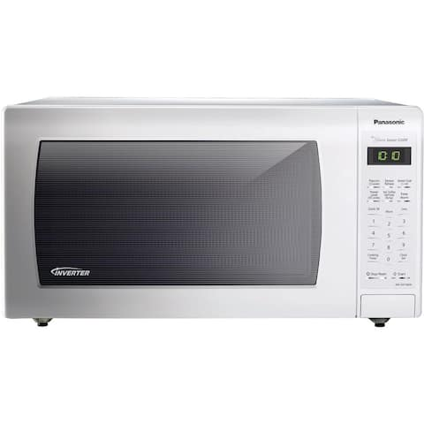 1.6 Cu. Ft. 1250W Genius Sensor Countertop Microwave Oven with Inverter Technology, White