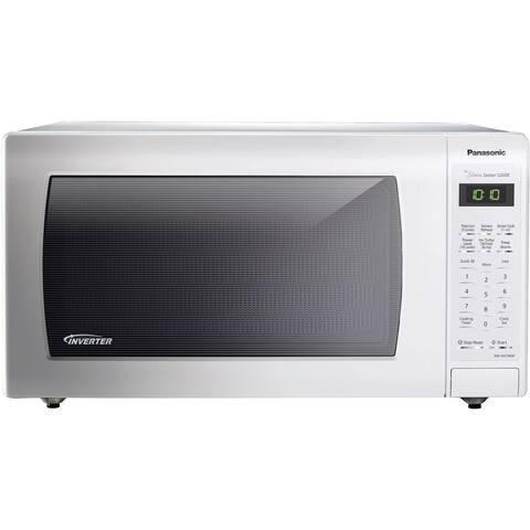 Panasonic NN-SN736W White 1.6 cubic feet 1250-watt Genius Sensor Countertop Microwave Oven With Inverter Technology