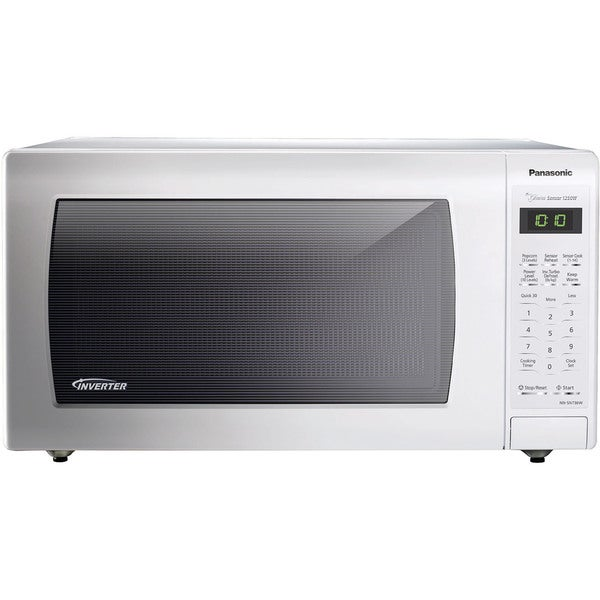 Panasonic NN-SN736W White 1.6 cubic feet 1250-watt Genius Sensor Countertop Microwave Oven With Inverter Technology