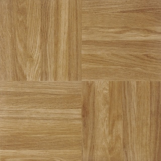 Sterling Square Parquet 12x12 Self Adhesive Vinyl Floor Tile - 20 Tiles/20 sq Ft.
