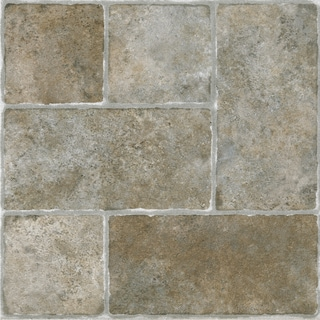 Sterling Cottage Stone 12x12 Self Adhesive Vinyl Floor Tile - 20 Tiles/20 sq Ft.