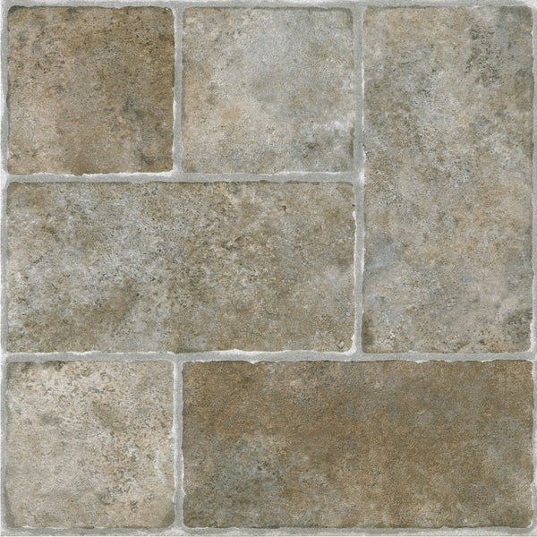 Shop Achim Sterling Cottage Stone 12x12 Self Adhesive Vinyl Floor