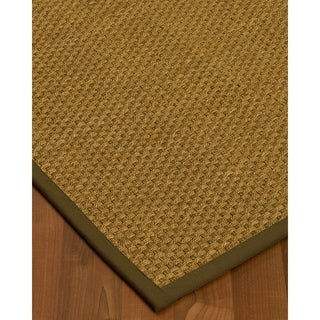 Handcrafted Calabria Natural Seagrass Rug - Taupe Binding, (9' x 12')