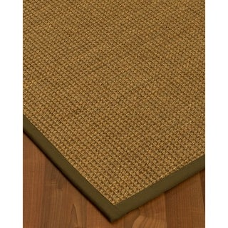 Handcrafted Hamptons Natural Seagrass Rug - Light Brown Binding, (9' x 12')