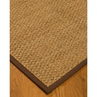 Handcrafted Miami Natural Seagrass Rug - Natural Binding, (8' x 10')