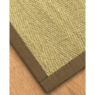Handcrafted Formosa Natural Seagrass Rug - Taupe Binding, (8' x 10')