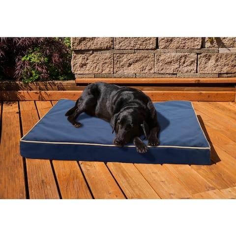 FurHaven NAP Indoor/Outdoor Deluxe Solid Memory Foam Orthopedic Dog Bed