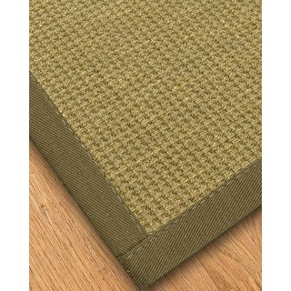 Handcrafted Montes Natural Seagrass Rug - Light Brown Binding, (9' x 12') with Bonus Rug Pad