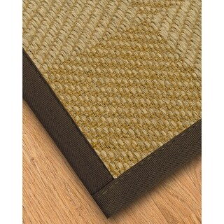 Handcrafted Phantom Natural Sisal Rug - Dark Brown Binding, (8' x 10') with Bonus Rug Pad