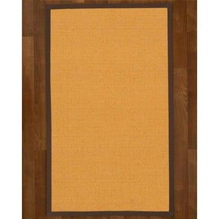 Handcrafted Victoria Natural Sisal Rug - Light Brown Binding, (9' x 12')