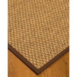 Hancrafted Valentino Natural Sisal Rug - Brown Binding, (9' x 12')