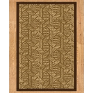 Handcrafted Seattle Natural Sisal Rug - Brown Binding, 9' x 12'
