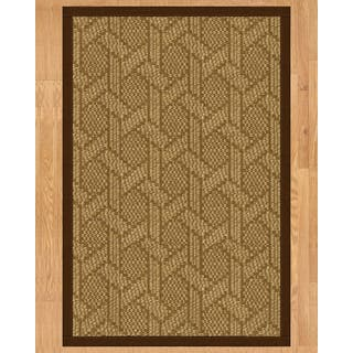 Handcrafted Seattle Natural Sisal Rug - Brown Binding, 9' x 12' with Bonus Rug Pad|https://ak1.ostkcdn.com/images/products/11817524/P18724043.jpg?impolicy=medium