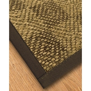 Handcrafted Parson Natural Sisal Rug - Dark Brown Binding, (8' x 10') with Bonus Rug Pad