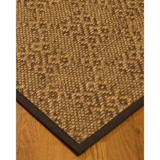 Handcrafted Oslo Natural Sisal Rug - Dark Brown Binding, (9' x 12') with Bonus Rug Pad