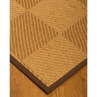 Handcrafted Osaka Natural Sisal Rug - Dark Brown Binding, (9' x 12') with Bonus Rug Pad