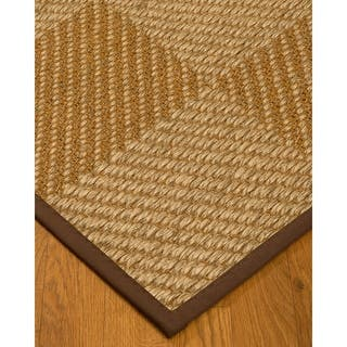 Handcrafted Nirvana Natural Sisal Rug - Dark Brown Binding, (9' x 12') with Bonus Rug Pad|https://ak1.ostkcdn.com/images/products/11817529/P18724048.jpg?impolicy=medium