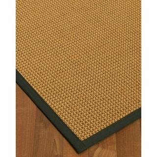 Handcrafted Dubai Natural Sisal Rug - Dark Grey Binding, (9' x 12') with Bonus Rug Pad