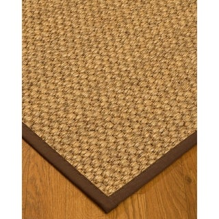 Handcrafted Valentino Natural Sisal Rug - Brown Binding, (6' x 9')