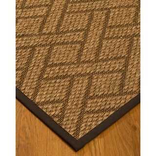 Handcrafted Shanghai Natural Sisal Rug - Dark Brown Binding, (5' x 8')