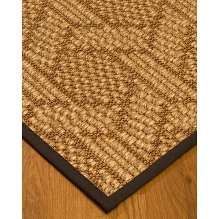 Handcrafted Seattle Natural Sisal Rug - Brown Binding, (5' x 8')