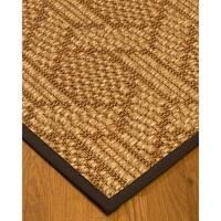 Handcrafted Seattle Natural Sisal Rug - Brown Binding, (5' x 8')