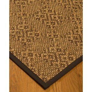 Handcrafted Oslo Natural Sisal Rug - Dark Brown Binding, (6' x 9')