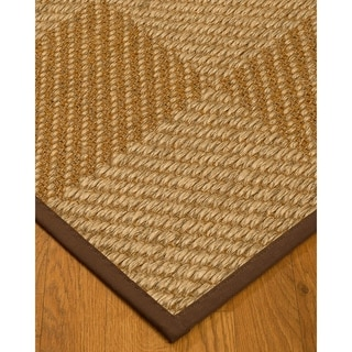 Handcrafted Nirvana Natural Sisal Rug - Dark Brown Binding, (6' x 9')