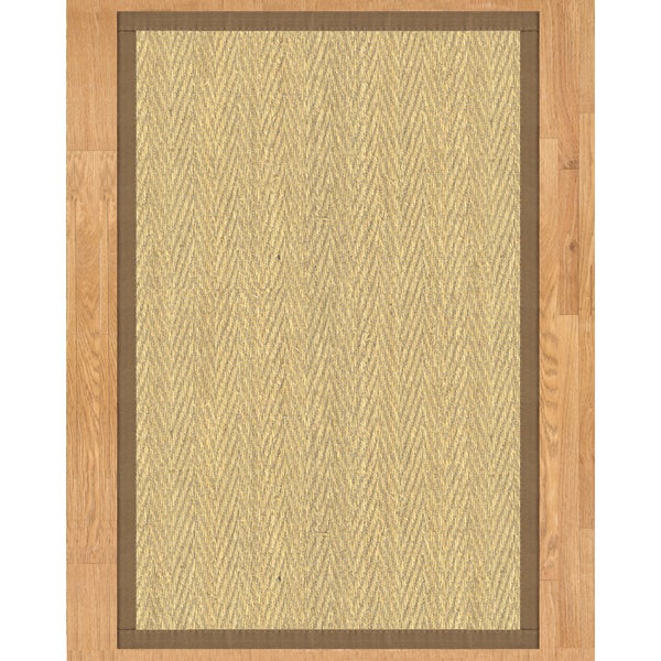 Handcrafted Australia Natural Seagr Rug Taupe Binding 4 X 6