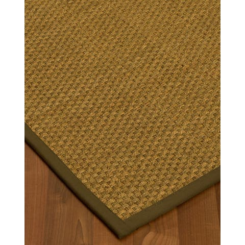 Handcrafted Calabria Natural Seagrass Rug - Taupe Binding, (4' x 6') - 4' x 6'