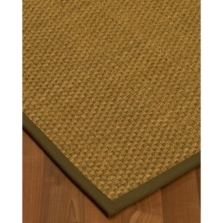 Handcrafted Calabria Natural Seagrass Rug - Taupe Binding, (3' x 5')