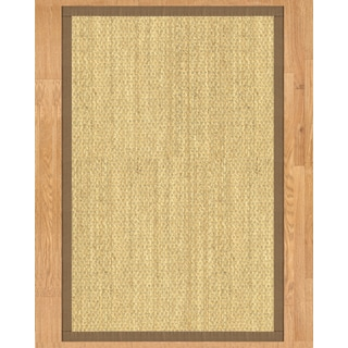 Handcrafted Positano Natural Seagrass Rug - Taupe Binding, (3' x 5')