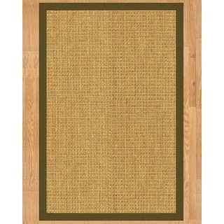 Handcrafted Montes Natural Seagrass Rug - Light Brown Binding, (3' x 5')