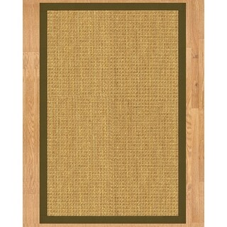 Handcrafted Montes Natural Seagrass Rug - Light Brown Binding, (3' x 5') - 3' x 5'